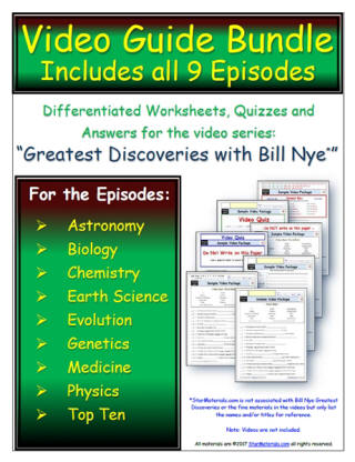 free student worksheets for greatest discoveries with bill nye. Black Bedroom Furniture Sets. Home Design Ideas