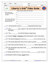 "FREE Liberty's Kids* ""Boston Tea Party"" - Worksheet/Video Guide"