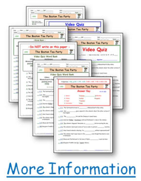 ... FREE Liberty's Kids* Boston Tea Party - Worksheet/Video Guide